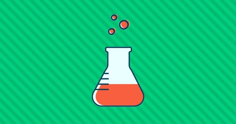 Picture of science flask vector